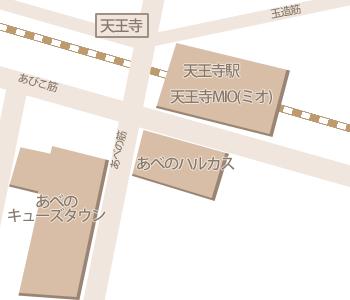 天王寺駅周辺マップ